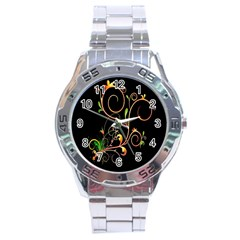 Flowers Neon Color Stainless Steel Analogue Watch
