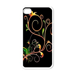 Flowers Neon Color Apple Iphone 4 Case (white)