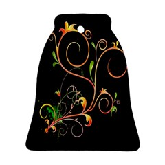 Flowers Neon Color Ornament (bell)