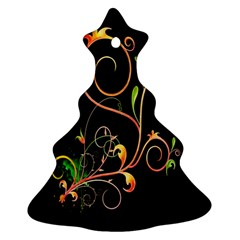 Flowers Neon Color Christmas Tree Ornament (two Sides)