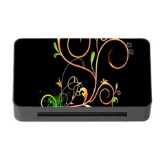 Flowers Neon Color Memory Card Reader With Cf