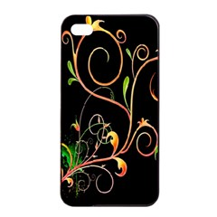 Flowers Neon Color Apple iPhone 4/4s Seamless Case (Black)