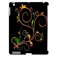 Flowers Neon Color Apple iPad 3/4 Hardshell Case (Compatible with Smart Cover)