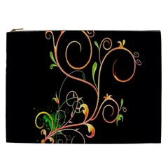 Flowers Neon Color Cosmetic Bag (XXL)