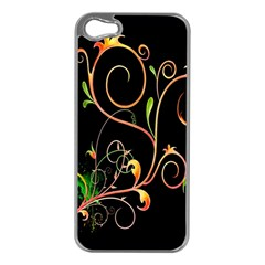 Flowers Neon Color Apple iPhone 5 Case (Silver)