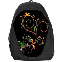 Flowers Neon Color Backpack Bag