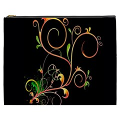 Flowers Neon Color Cosmetic Bag (XXXL)