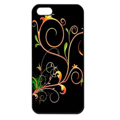 Flowers Neon Color Apple iPhone 5 Seamless Case (Black)