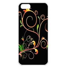 Flowers Neon Color Apple iPhone 5 Seamless Case (White)
