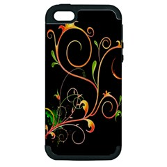 Flowers Neon Color Apple Iphone 5 Hardshell Case (pc+silicone)
