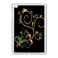 Flowers Neon Color Apple iPad Mini Case (White)