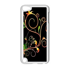 Flowers Neon Color Apple iPod Touch 5 Case (White)