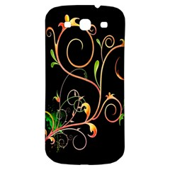 Flowers Neon Color Samsung Galaxy S3 S III Classic Hardshell Back Case
