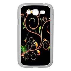 Flowers Neon Color Samsung Galaxy Grand DUOS I9082 Case (White)