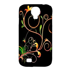 Flowers Neon Color Samsung Galaxy S4 Classic Hardshell Case (PC+Silicone)