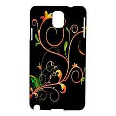 Flowers Neon Color Samsung Galaxy Note 3 N9005 Hardshell Case