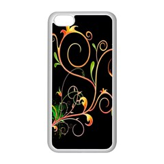 Flowers Neon Color Apple iPhone 5C Seamless Case (White)