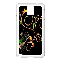 Flowers Neon Color Samsung Galaxy Note 3 N9005 Case (White)