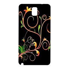 Flowers Neon Color Samsung Galaxy Note 3 N9005 Hardshell Back Case