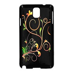 Flowers Neon Color Samsung Galaxy Note 3 Neo Hardshell Case (Black)