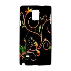 Flowers Neon Color Samsung Galaxy Note 4 Hardshell Case