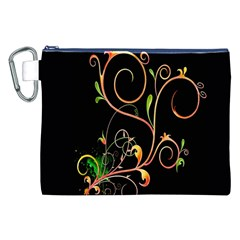 Flowers Neon Color Canvas Cosmetic Bag (xxl)