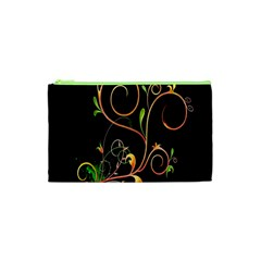 Flowers Neon Color Cosmetic Bag (xs)
