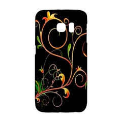 Flowers Neon Color Galaxy S6 Edge