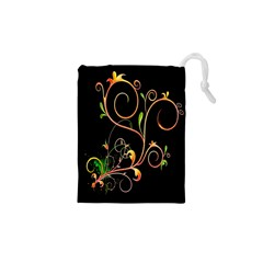 Flowers Neon Color Drawstring Pouches (xs)