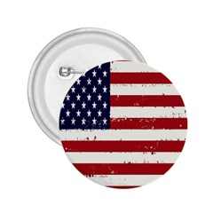 Flag United States United States Of America Stripes Red White 2.25  Buttons