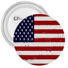 Flag United States United States Of America Stripes Red White 3  Buttons