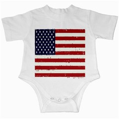 Flag United States United States Of America Stripes Red White Infant Creepers
