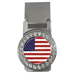 Flag United States United States Of America Stripes Red White Money Clips (CZ)