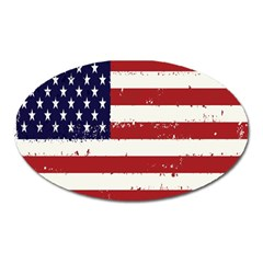 Flag United States United States Of America Stripes Red White Oval Magnet