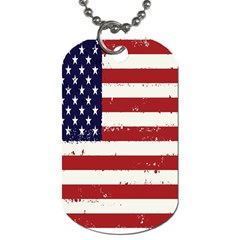 Flag United States United States Of America Stripes Red White Dog Tag (one Side)