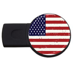 Flag United States United States Of America Stripes Red White USB Flash Drive Round (2 GB)