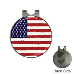 Flag United States United States Of America Stripes Red White Hat Clips With Golf Markers