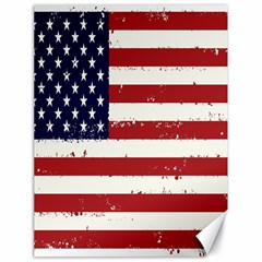 Flag United States United States Of America Stripes Red White Canvas 18  X 24