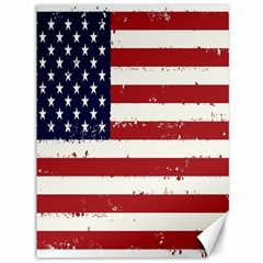 Flag United States United States Of America Stripes Red White Canvas 36  x 48