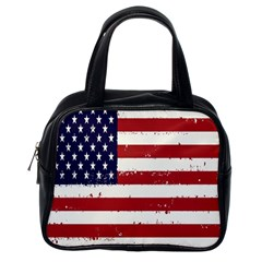 Flag United States United States Of America Stripes Red White Classic Handbags (one Side)