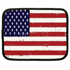 Flag United States United States Of America Stripes Red White Netbook Case (xxl)