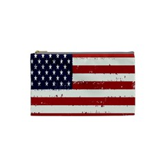 Flag United States United States Of America Stripes Red White Cosmetic Bag (small)