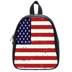 Flag United States United States Of America Stripes Red White School Bags (small)