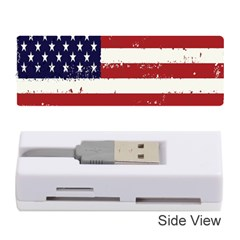 Flag United States United States Of America Stripes Red White Memory Card Reader (stick)