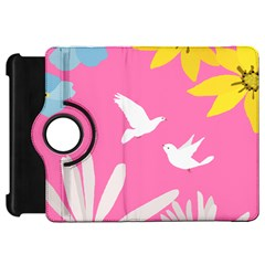 Spring Flower Floral Sunflower Bird Animals White Yellow Pink Blue Kindle Fire HD 7