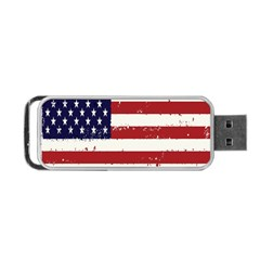 Flag United States United States Of America Stripes Red White Portable USB Flash (Two Sides)