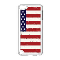 Flag United States United States Of America Stripes Red White Apple iPod Touch 5 Case (White)