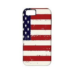 Flag United States United States Of America Stripes Red White Apple iPhone 5 Classic Hardshell Case (PC+Silicone)
