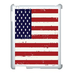 Flag United States United States Of America Stripes Red White Apple iPad 3/4 Case (White)