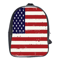 Flag United States United States Of America Stripes Red White School Bags (XL)